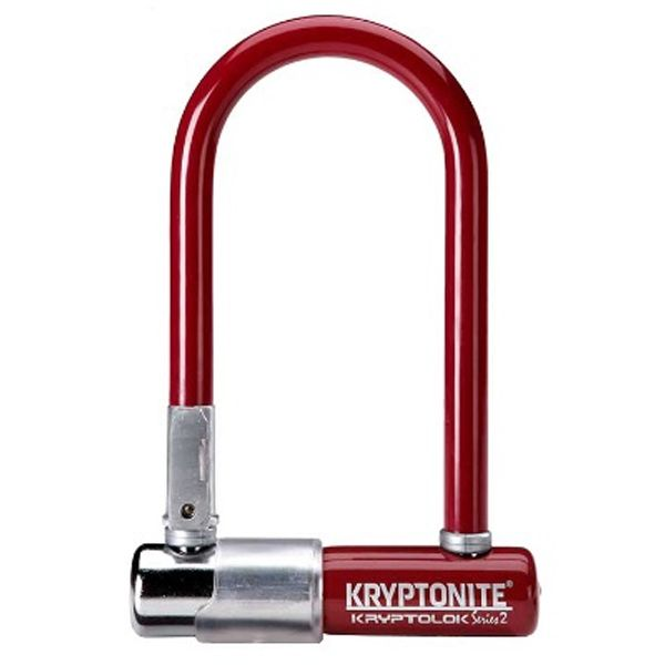Antivol Kryptonite KryptoLok Series 2 Mini-7 U + Support cadre Bordeaux