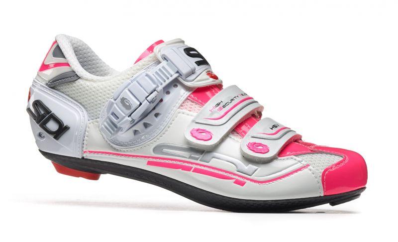 Chaussures Sidi GENIUS 7 Women Blanc/Rose fluo