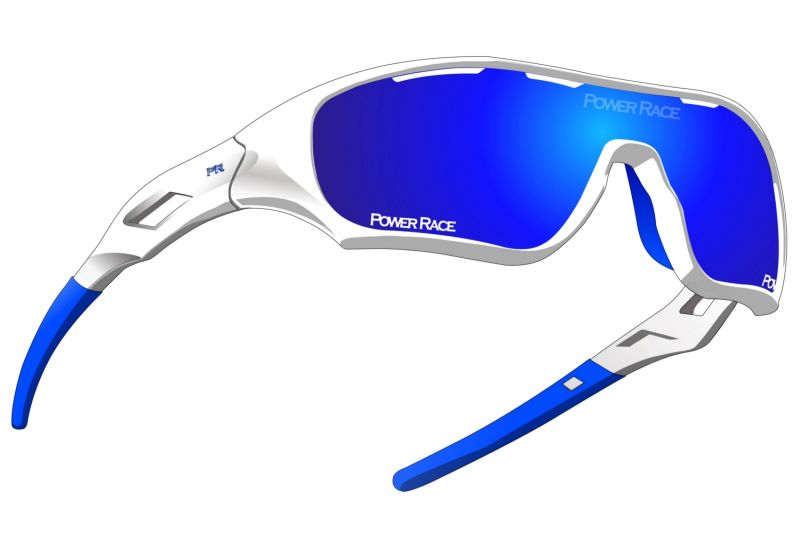 Lunettes Power Race Star Fighter Blanc/Bleu