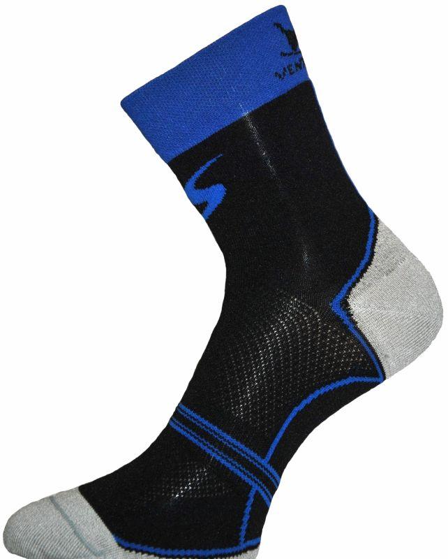 Chaussettes Ventura Socks Carbone Classic Noir/Bleu Royal