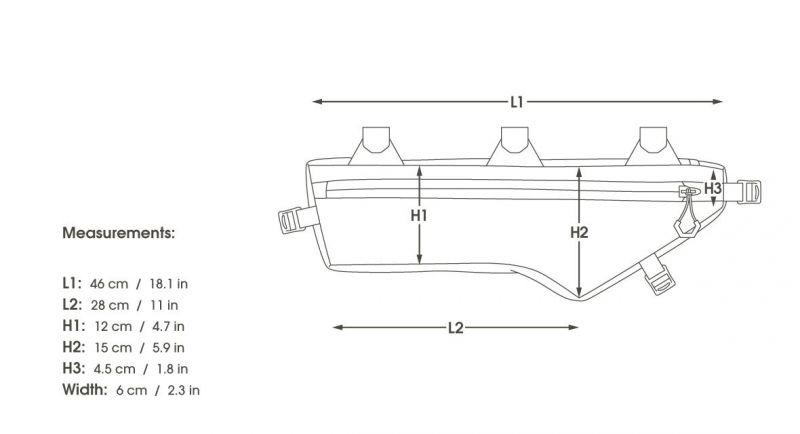 Sacoche de cadre VTT Apidura Medium 4,5 L - 6