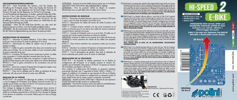 Boitier électronique Polini HI-SPEED V2 Bosch Active / Performance CX - 1