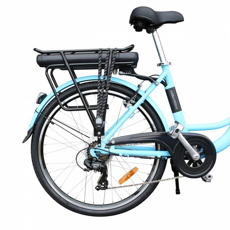 """Vélo électrique ville Newton Alu 26"""" Mixte 6V 36V/468 Wh Bleu - 5"""