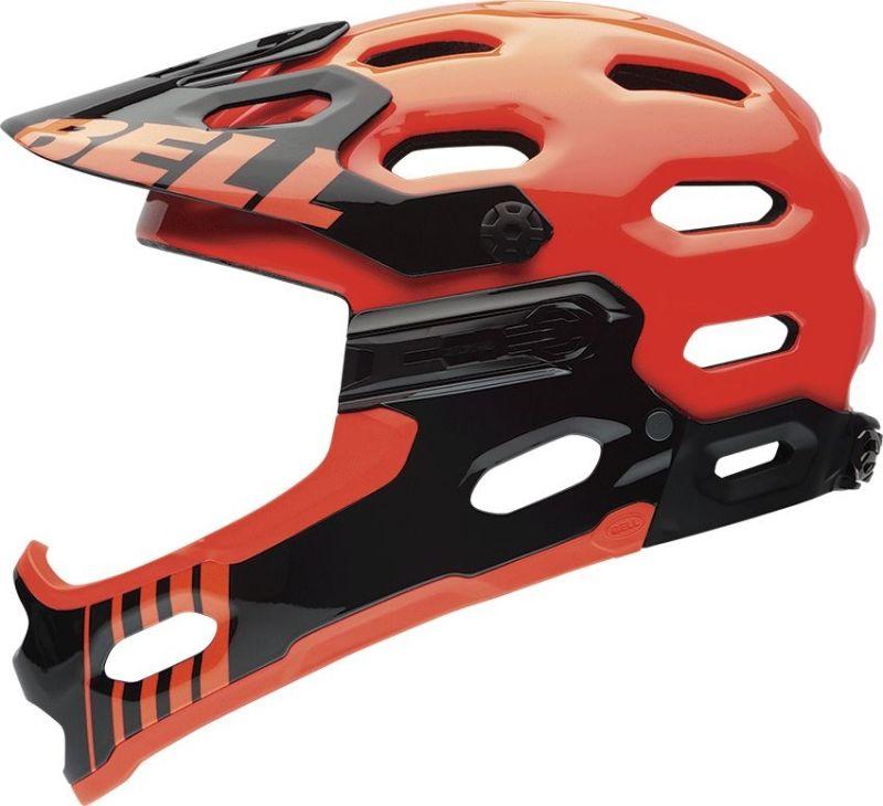 Casque Bell SUPER 2R Orange fluo/Noir