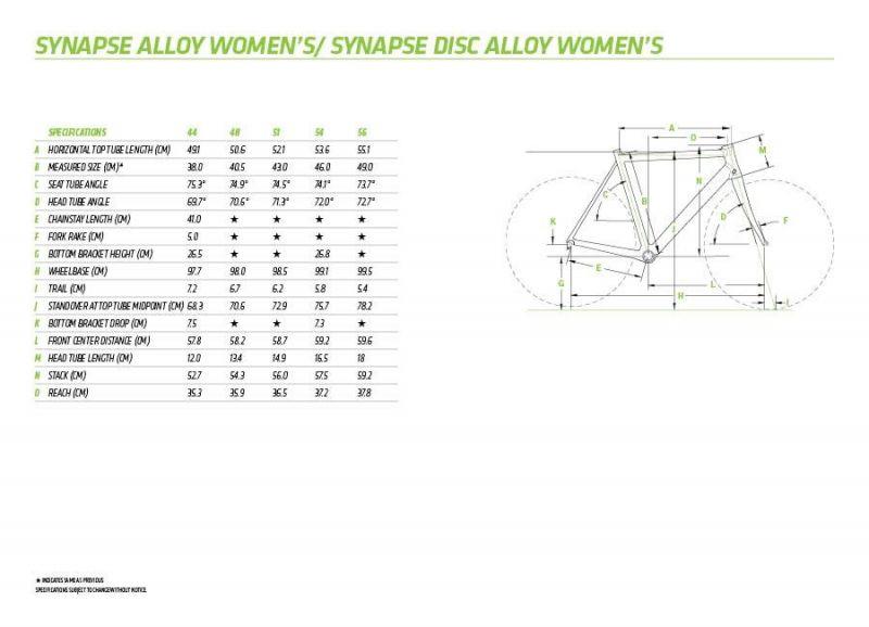 Vélo route femme Cannondale Synapse WMN Tiagra Blanc - 1