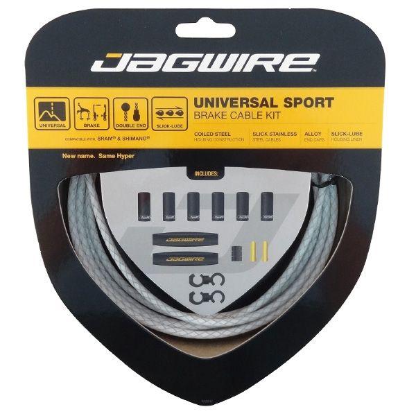 Kit câble et gaine de frein Jagwire Universal Sport - Blanc tressé UCK410