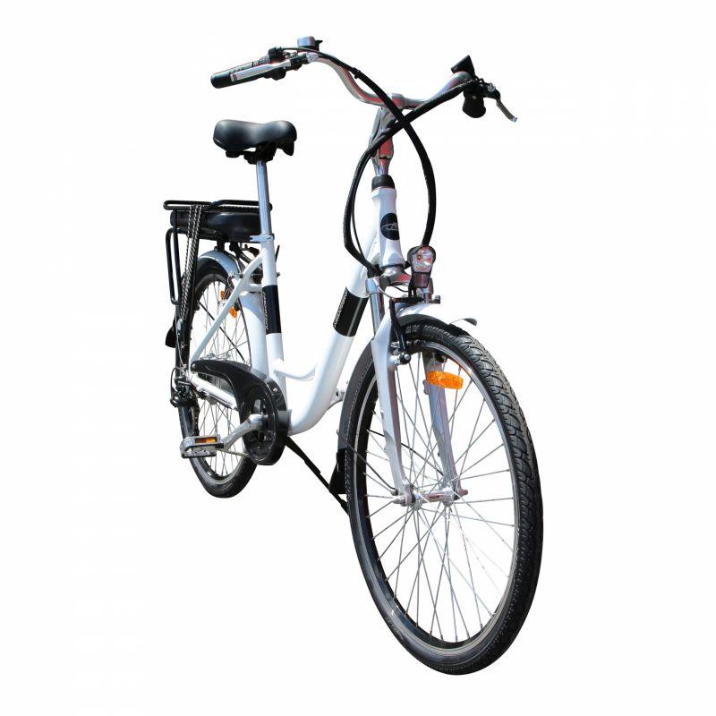 """Vélo électrique ville Newton Alu 26"""" Mixte 6V 36V/468 Wh Blanc nacré - 2"""
