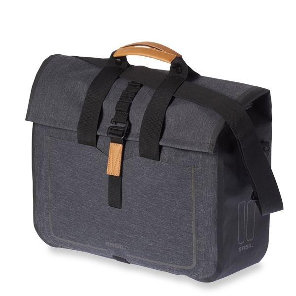 Sacoche BASIL Urban Dry Bus Bag étanche 20 L Gris Charcoal