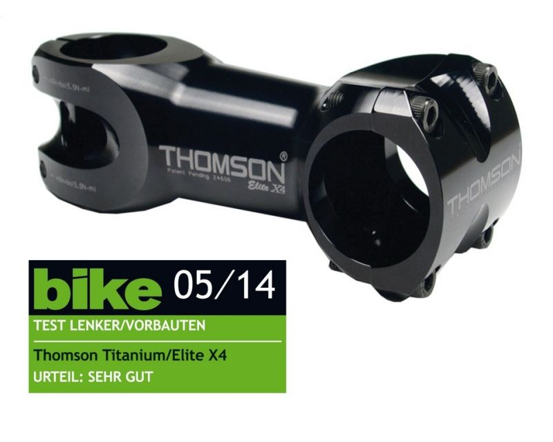 """Potence Thomson Potence Elite X4 1.1/8""""x 0° x 130 x 31,8 mm Noir"""