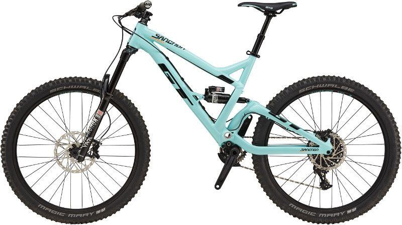 vtt tout suspendu gt sanction expert 27 5 bleu sur ultime bike. Black Bedroom Furniture Sets. Home Design Ideas