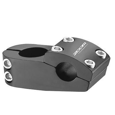 """Potence BMX Zoom Alu 1.1/8"""" L. 48 mm R. 5° D. 22,2 mm Noir"""