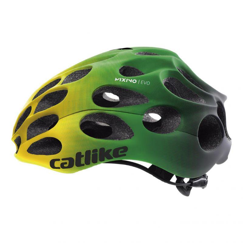 Casque Route Catlike Mixino Evo Mips Vert/Jaune mat