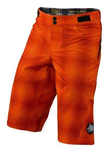 Short Troy Lee Designs Skyline Plaid Orange