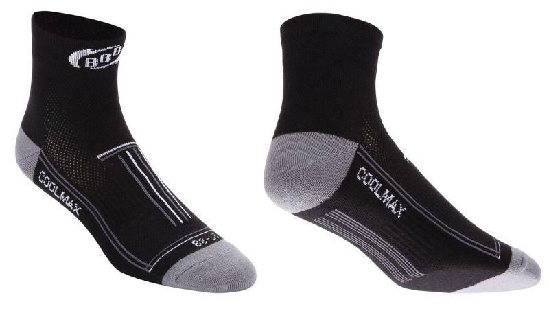 Chaussettes BBB TechnoFeet Coolmax Noir/Blanc - BSO-01