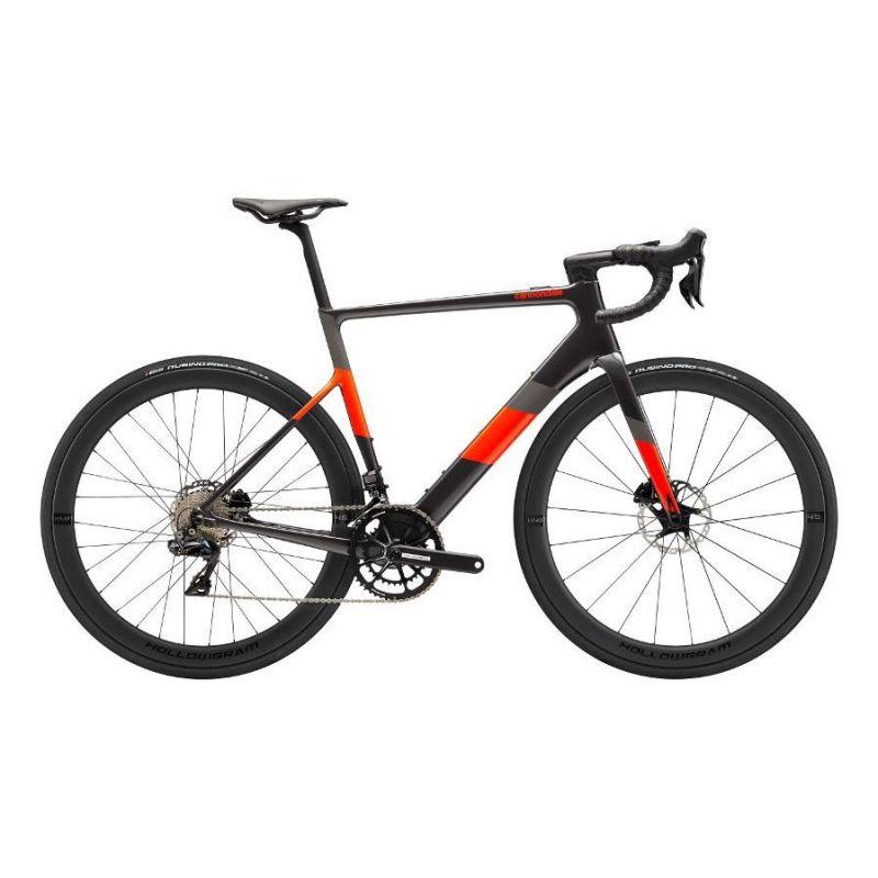 Vélo route électrique Cannondale SuperSix EVO Neo 1 Graphite/Rouge 2020