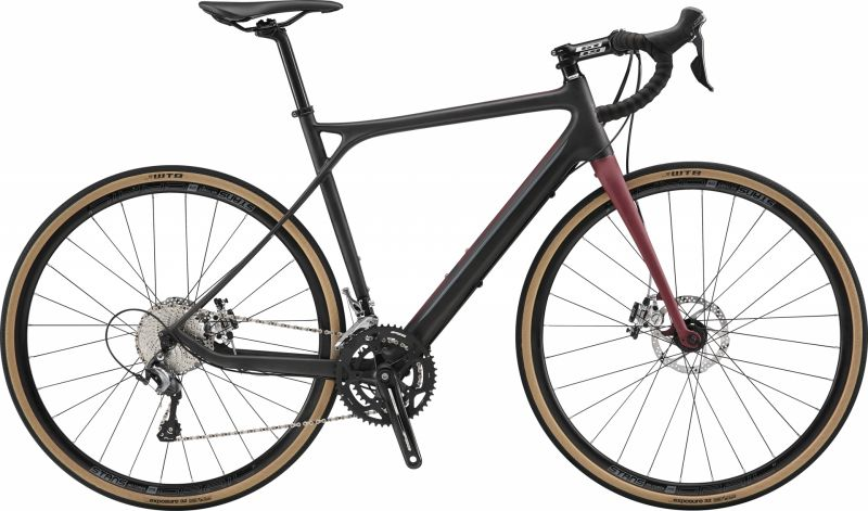 Vélo gravel GT Grade Carbon Elite Noir Satin/Rouge