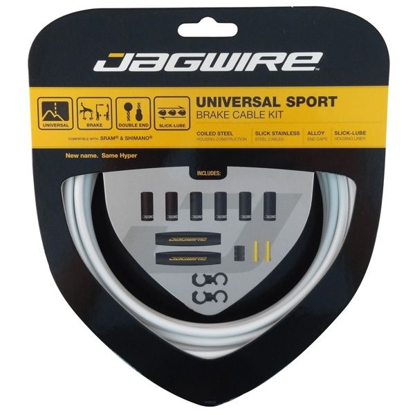 Kit câble et gaine de frein Jagwire Universal Sport - Blanc UCK412