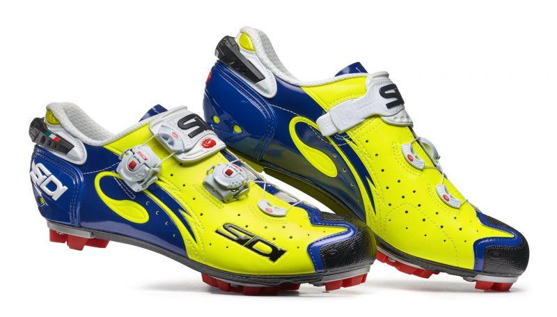 Chaussures Sidi DRAKO Carbon SRS Jaune fluo/Bleu
