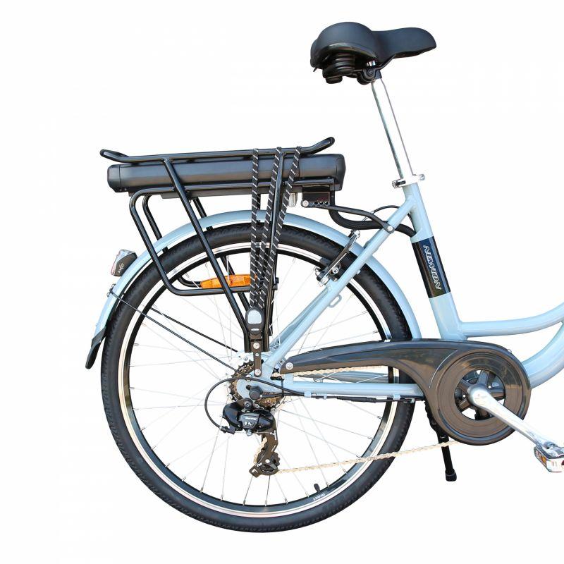 """Vélo électrique ville Newton Alu 26"""" Mixte 6V 36V/468 Wh Gris titane - 5"""
