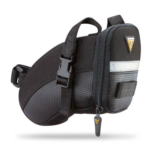 Sacoche de selle Topeak Aero Wedge Pack - Small 0,66 L (sangles) Noir/Réfléchissant