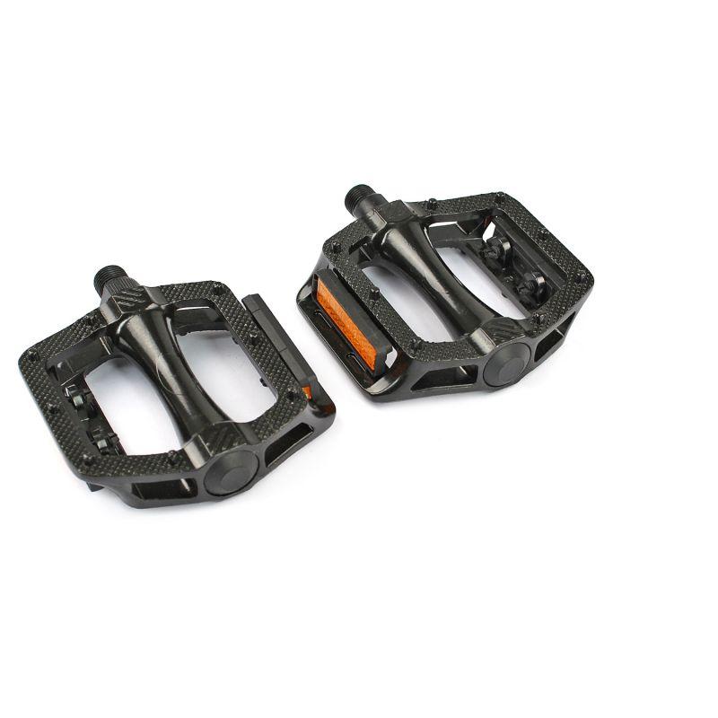 Pédales plates BMX WTP filetage 9/16 Noir