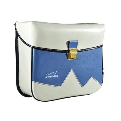 Sacoches traditionnelles Pyrénées Porte-bagages Crochets (Paire) Crème/Bleu