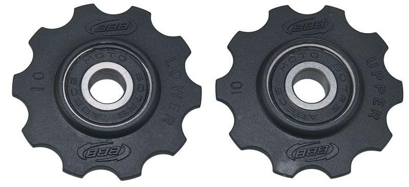 Galets de dérailleur BBB RollerBoys 10 dents Noir - BDP-01