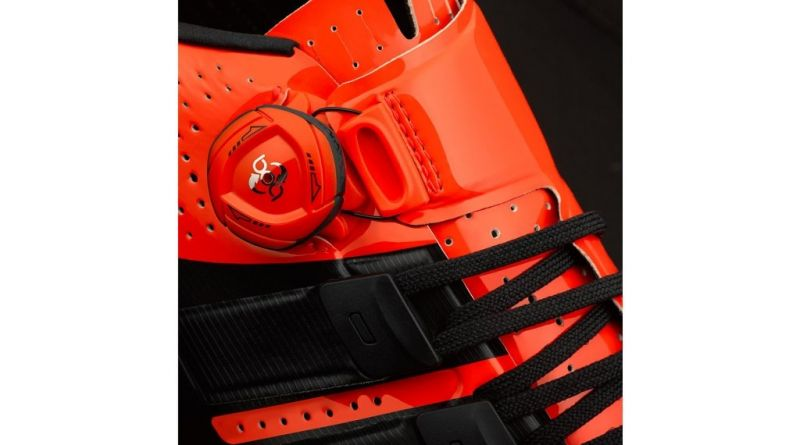 Chaussures route Giro Factor Techlace Rouge/Noir - 5
