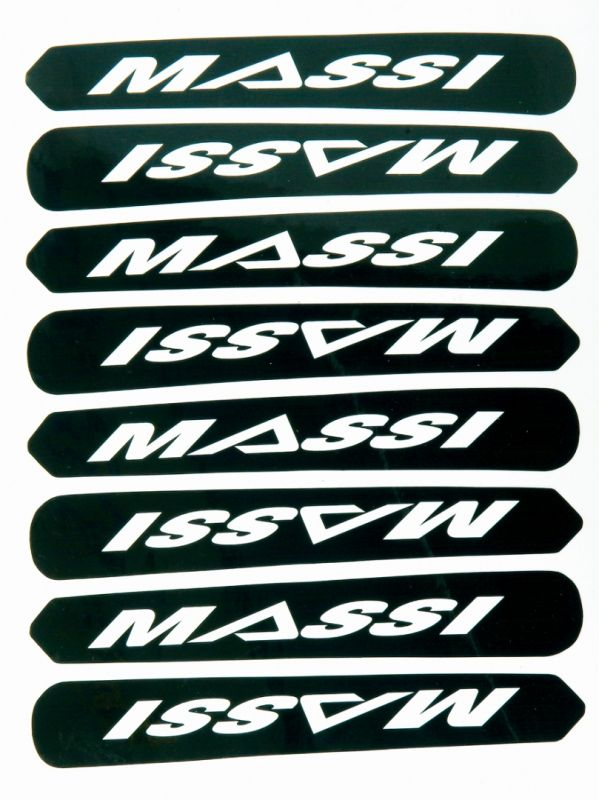 Stickers Massi protège base L. 85 mm (x10) Noir