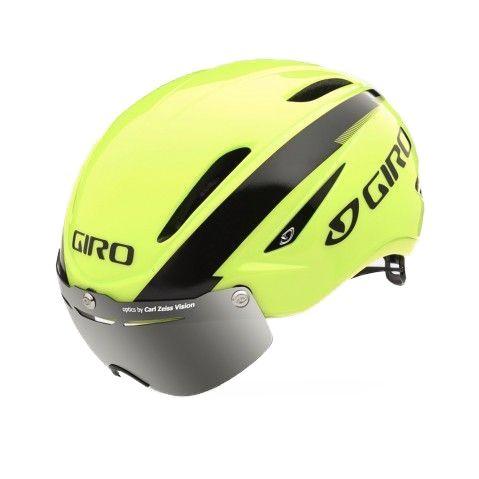 Casque Route Giro Air ATTACK Shield Jaune fluo/Noir