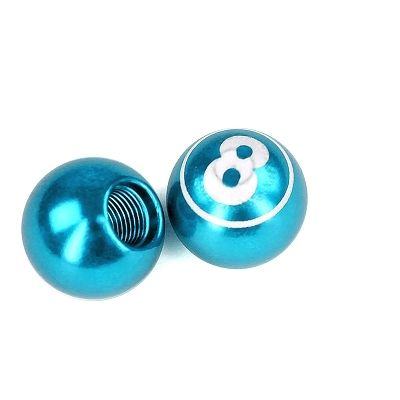 Bouchon de valve WTP Schrader Boule de billard N°8 Bleu (Paire)