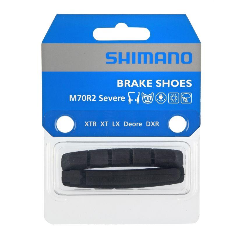 Patins de frein Shimano M70R V-Brake XT-XTR-DXR Conditions sévères (Paire)