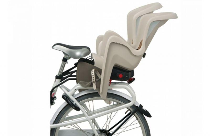 Porte-bébé arrière Polisport Bilby Maxi RS sur cadre Inclinable Crème/Marron - 1