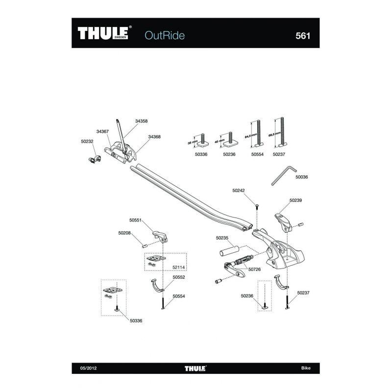 Vis Thule M6x35mm - 50336 - 2