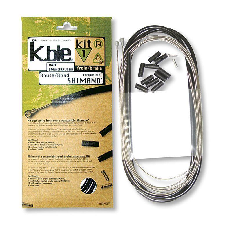 Kit câbles et gaine de frein Transfil K.ble route inox Noir