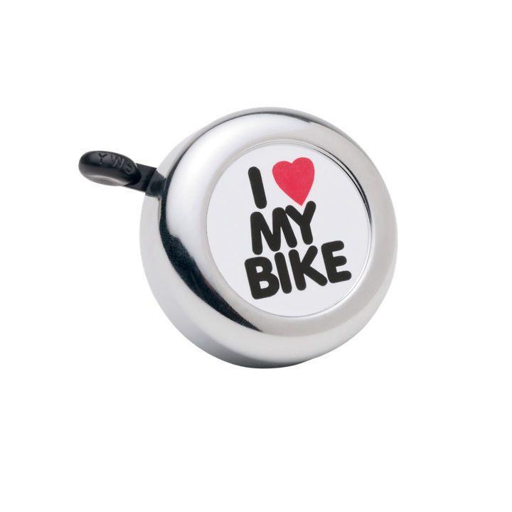 Sonnette Electra I Love My Bike Chrome
