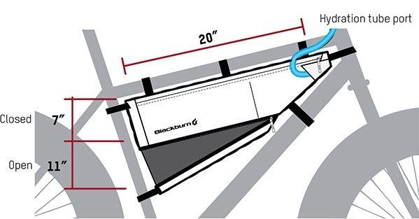 Sacoche de cadre bikepacking Blackburn Outpost L - 5,25/6,95 L Noir - 2