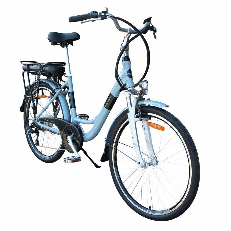 """Vélo électrique ville Newton Alu 26"""" Mixte 6V 36V/468 Wh Gris titane - 2"""