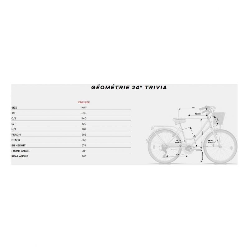 Vélo Urbain Enfant Megamo Trivia 24'' Rose 2020 - 1