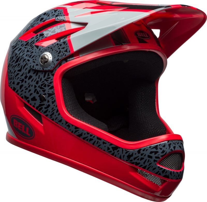 Casque Bell SANCTION Rouge Hibiscus/Gris Smoke