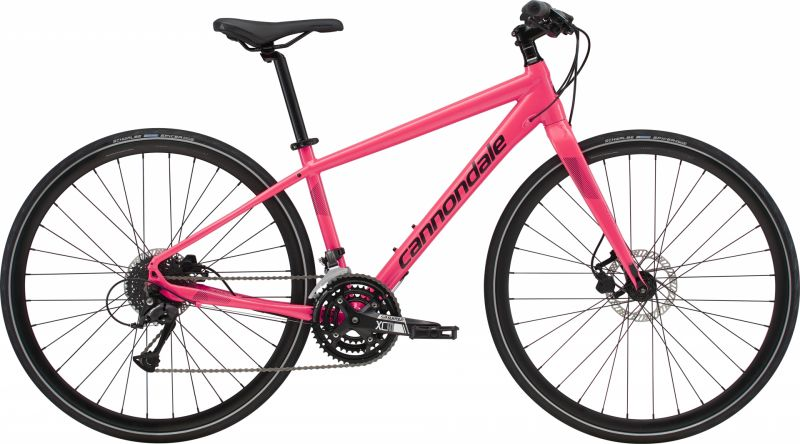 Vélo fitness femme Cannondale Quick Disc 4 WMN Rouge Strawberry/Noir