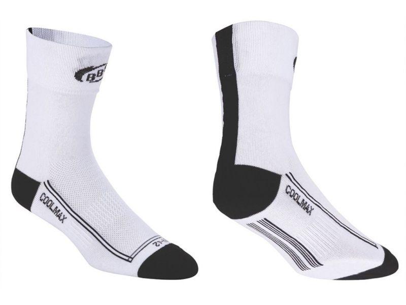 Chaussettes hautes/basses BBB FoldFeet (blanc/noir) - BSO-03