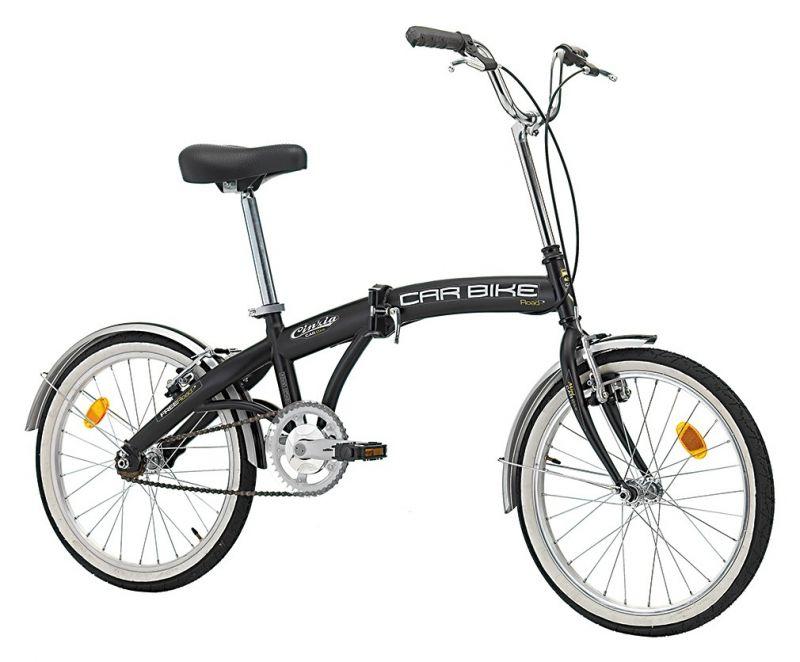 "Vélo pliant Cinzia Car Bike 20"" Acier Monovitesse Noir Mat"