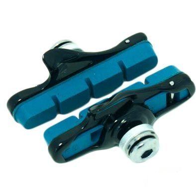 Porte-patins route Clarks à cartouche comp. Shimano/SRAM Carbone Bleu (La paire)