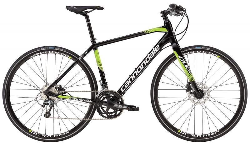 v lo fitness cannondale quick speed disc 1 2016 noir vert sur ultime bike. Black Bedroom Furniture Sets. Home Design Ideas