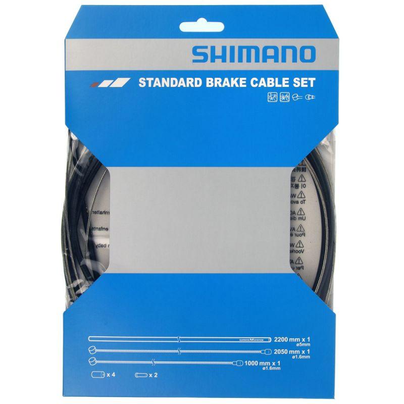 Kit câbles et gaine de frein Shimano Route/VTT Noir