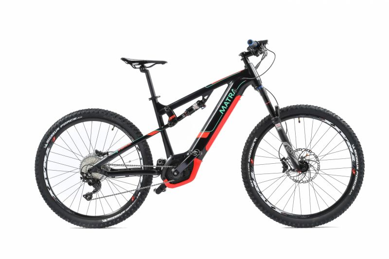 vtt lectrique 45 km h matra i force shock int gr xts noir rouge sur ultime bike. Black Bedroom Furniture Sets. Home Design Ideas