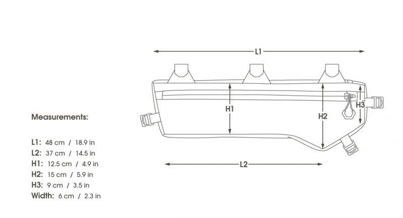 Sacoche de cadre route Apidura Medium 4,5 L - 5