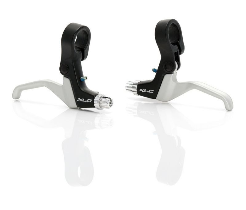 Leviers de frein XLC BL-V03 comp.Mini V-brake et U-brake Noir/Argent (Paire)