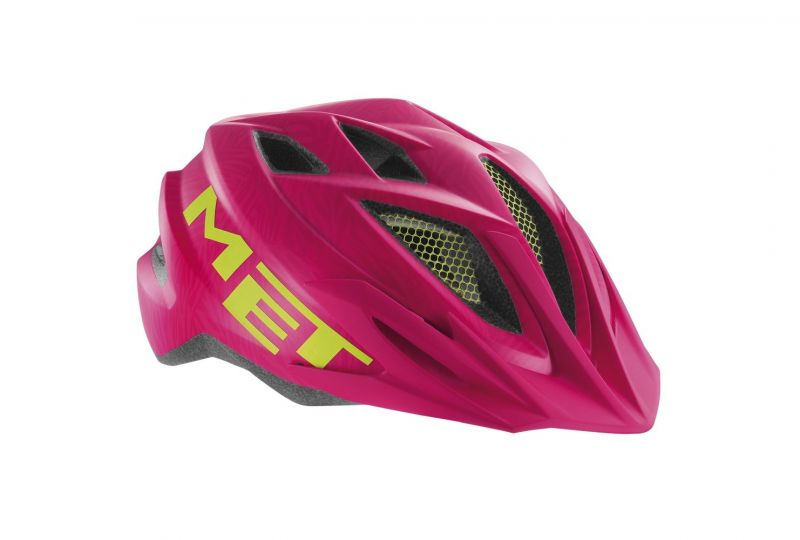 Casque junior MET Crackerjack rose/vert texture